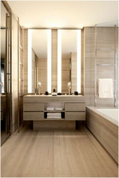 Armani hotel bathroom - Fox Home Design Contemporary Bathroom Inspiration, Modern Contemporary Bathrooms, Modern Bathroom Design, Contemporary Decor, Bathroom Interior, Bathroom Ideas, Contemporary Vanity, Simple Bathroom, Modern Mirrors