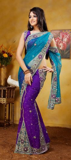 Awesome lehenga style saree for bridal.Buy now,Available at- http://www.indianweddingsaree.com/product/77384.html