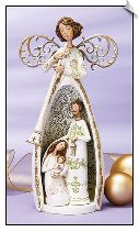 Artisan™ Collection Angel with Holy Family Nativity Scene