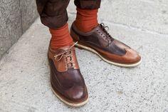 Cole Haan Shoe on Joshua Kissi of Street Etiquette.  Shot by Paul Chin of Lavish-Livez.com outside of Gant by Michael Bastian presentation.