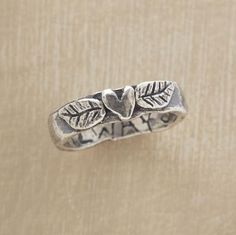 Love this ring. Made from Metal Clay - Fine Silver..... Rebecca uses Metal Clay in some of her jewelry designs of pendants. This is a lovely design....  from Life is Beautiful - Tumblr -