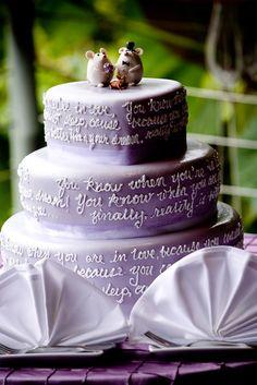 Cute Purple Wedding Cake