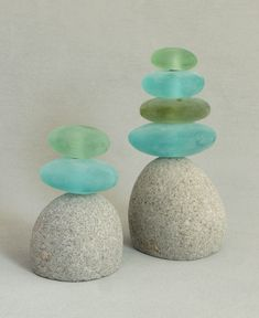 Colorful garden cairn sculpture made of natural rock and glass. Multiple sizes available. Made in Indonesia. Stone Crafts, Rock Crafts, Zen Home Decor, Buddha Wall Art, Glass Rocks, Landscape Fabric, Nature Artwork, Landscaping With Rocks, Landscaping Ideas