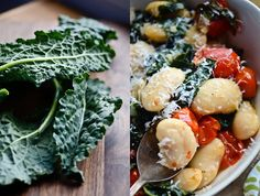blissful eats with tina jeffers: corona beans with braised kale