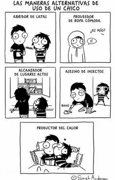 imagenes de sarah andersen en español que encontré por ahí para mi so… #detodo # De Todo # amreading # books # wattpad