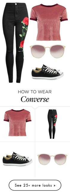 """Untitled #630"" by foxessx on Polyvore featuring Boohoo, Converse and Linda Farrow"