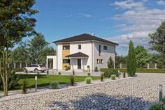 Fertighaus - Haas Fertigbau Holzbauwerk GmbH & Co. KG - Vita 160 Style At Home, Villa, Modern, Mansions, House Styles, Home Decor, Private Garden, Roof Styles, Dream House Plans