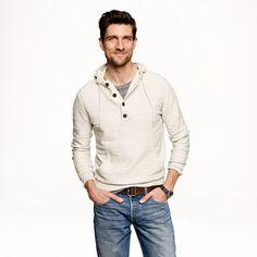 J.Crew - Heathered cotton hoodie