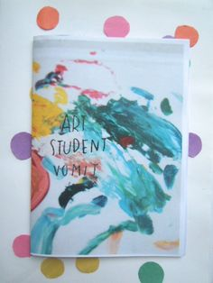 Art Student Vomit Zine by LuellaAndToots Abstract Sketches, Abstract Art, Art Zine, Publication Design, Handmade Books, Bookbinding, Book Design, Book Art, Illustration Art