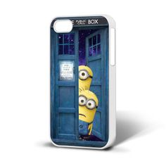 Doctor Who Tardis and Despicable Me Minions iPhone 4/4s. I must get this!!! <3 <3