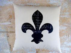 Fleur de Lis Pillow, French , Paris Decor, French Country Home, Cottage Decor