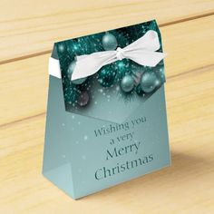 Christmas Holiday Ornaments - Teals Favor Box