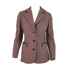 Maggy Rouff 1930s classic plaid jacket- classic equestrian