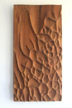 Escultura de pared de madera teca por NardineDesignStudio en Etsy