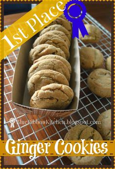 Blue Ribbon Kitchen: FIRST PLACE GINGER SNAPS.