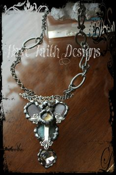Faith on Fire necklace by HaveFaithDesigns on Etsy