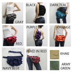 KINIES Ruffled Waist Purse in Red  by Kinies, $38.00  Want this- what a clever way to update...
