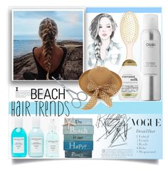 """Beach Hair"" by patria ❤ liked on Polyvore featuring beauty, Monki, Ouai, L. Erickson, Organix, Zwilling J.A. Henckels, Sachajuan, GE and beachhair"