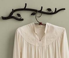 Gaiam - Hand-Forged Recycled Iron Leaf Coat Rack