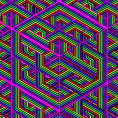 Optical Illusion Gif, Cool Optical Illusions, Illusion Art, Beautiful Nature Wallpaper, Love Wallpaper, Pattern Wallpaper, Kaleidoscope Images, Trippy Pictures, Trippy Gif