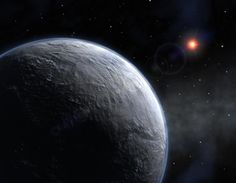 Back to the Gliese Solar system, but this time to visit Gliese 436 b, a planet that sits at 822 degrees Fahrenheit that is made entirely of ice! The core of the planet has such a high gravitational pull that the water molecules are packed so tightly that it stays solid!