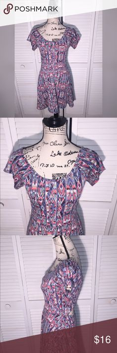 Ultra Flirt Skater Dress Cutout Back Flowy Midi Brand: ULTRA FLIRT  Condition: Excellent (Fits more like a small/medium, check measurements)   SIZE: LARGE   Bust: 30  Shoulder to Shoulder: 16  Length: 34  ALLERGY/SMELL CONCERNS? Pet free home/Smoke free home  FEEL FREE TO CHECK OUT ANY OF MY OTHER LISTINGS. THANKS, IN ADVANCE !  BEING A NEW SELLER I'D LIKE TO DO MY BEST TO SATISFY ALL CUSTOMERS NEEDS. PLEASE CONTACT ME IF THERE ARE ANY ISSUES OR OTHER CONCERNS BEFORE LEAVING…