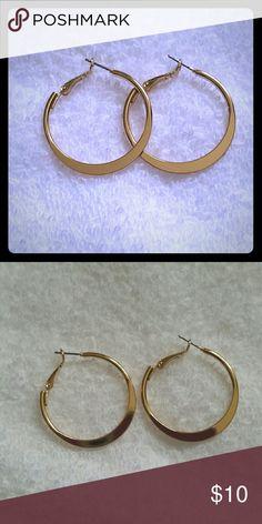 Gold Hoop Earrings Brand new w/ tags gold hoop earrings Jewelry Earrings
