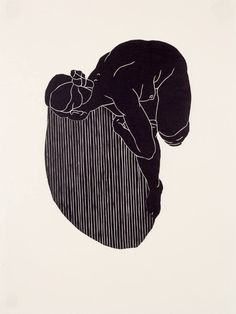 """From a suite of four prints called """"The Seamstress' Tale"""". Hand-pulled prints on Japanese Gifu paper. Edition of 10."""