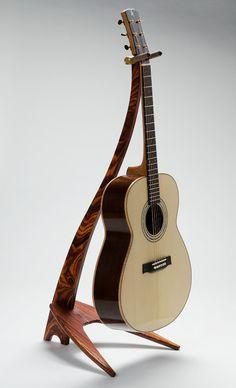 Handcrafted Custom WM Cocobolo Guitar Stand. $475,00, via Etsy.