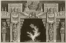 Giovanni Battista Piranesi: Egyptian Fireplace and Painted Decoration of the Caffe Inglese