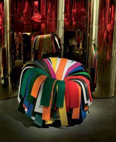 Edra, sillón modelo Sushi diseñado por Fernando & Humberto Campana. Mobiliario de diseño para hogar, hoteles y contract. (Espacio Aretha agente exclusivo para España).