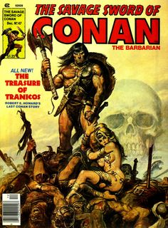 The Savage Sword of Conan (No.47, Dec 1979) Cover Art by Earl Norem