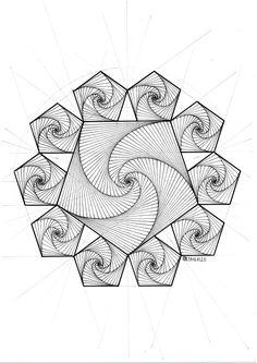 My Most Favorite Geometric Tattoo Zentangle Drawings, Zentangle Patterns, Art Drawings, Sacred Geometry Symbols, Geometry Art, Symmetry Design, Design Art, Geometric Shapes Drawing, Mandala Art Lesson