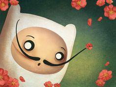 Salvador Dali inspired Adventure Time Illustration