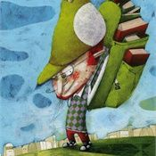 Illustration for Studipolis, research centre from publishinghouse Die Keure - © illustration: illustrator Steven Van Hasten Bizarre Animals, Weird Creatures, Children's Book Illustration, Book Illustrations, Childrens Books, Illustrators, Van, Gallery, Drawings