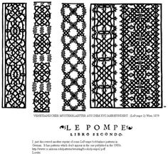 LePompe 2a , How to make lace tutorials for beginners .They also translate in all languages .