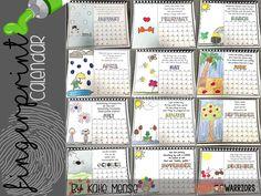 Fingerprint Calendar for Parent Christmas Gifts - Little Warriors