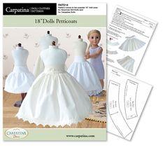 Petticoats Downloadable 18 Inch Dolls Pattern