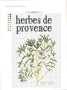 Herbes de Provence  Free Cross Stitch Pattern