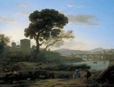 Landscape near Rome with a View of the Ponte Molle