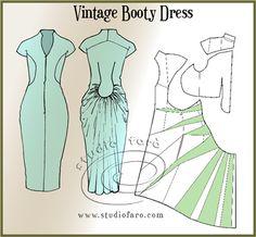 Pattern Puzzle - Vintage Booty Dress