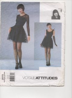 VOGUE Pattern 2072 Anna Sui Attitudes Sexy French Lacey Dress Gloves Size 6-8-10 #VoguePatterns #DressGloves