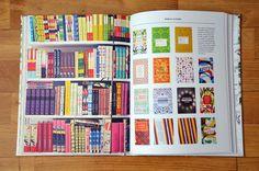 "Gorgeous book design! *_* (in ""Designing patterns"" by Lotta Kühlhorn)"