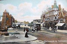 Black Horse (& Harrow), 145 Rushey Green, Catford, Kent - circa 1910. Now the Goose on the Green.