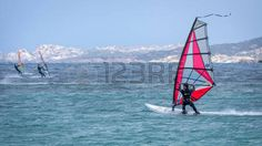 windsurfing: Windsurfing at Porto Pollo in Sardinia