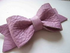 Leather bow tutorial and template