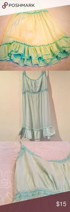 Cotton lounge dress/ baby doll nighty Light blue cotton baby doll nighty/ lounge dress. Great for maternity. Light cotton with lace trim 💎💙 Old Navy Intimates & Sleepwear Chemises & Slips