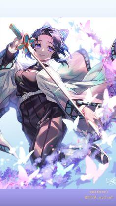 We have plenty of HD Wallpaper of Shinobu Kocho among the complete characters of anime series Demon Slayer - Kimetsu no Yaiba Kawaii Anime Girl, Anime Art Girl, Manga Girl, Demon Slayer, Slayer Anime, Otaku Anime, Animé Fan Art, Estilo Anime, Fanarts Anime