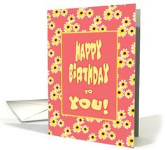 Birthday Card With Yellow Daisies/From All Of Us card (1116798)
