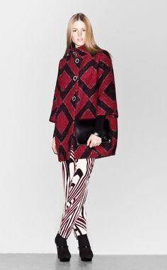 Sisley, coat, red